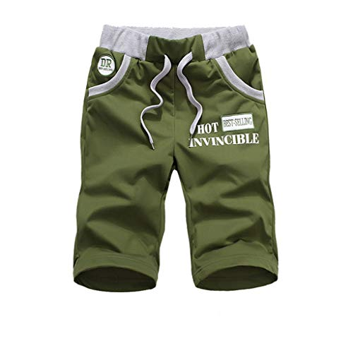 Shorts Men's Summer Fashion Shorts sportbroek Loose Outdoor Adventure Shorts Black/Army Green (Color : ArmyGreen, Size : XXL)