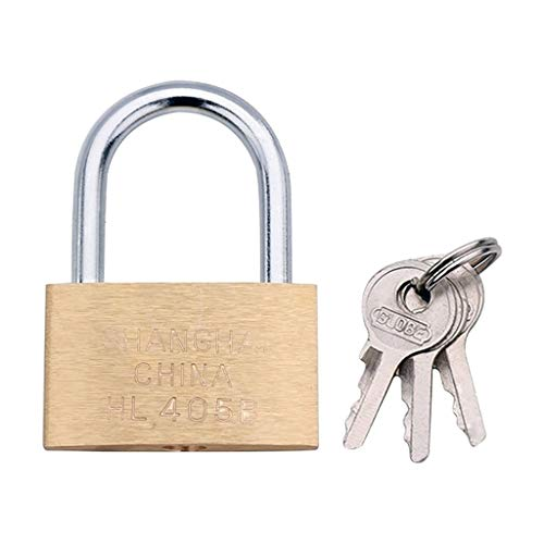 Copper Padlock Small Lock Safe, Style: Short Lock Beam, 50mm For Backpackage, Suitcase, Drawer, Door Use