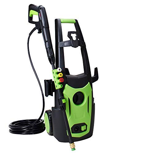 PowRyte Elite 3800PSI 2.6GPM Electric Power Washer,Pressure Washer with 4 Quick-Connect Spray Tips and 20 Ft Pressure Hose, Washer Machine-Green
