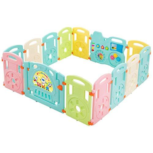 Relaxbx Baby Fence Children 'S Game Ramping Mat Safety Clôture Toddler Clôture pour Family Park Kindergarten Beach