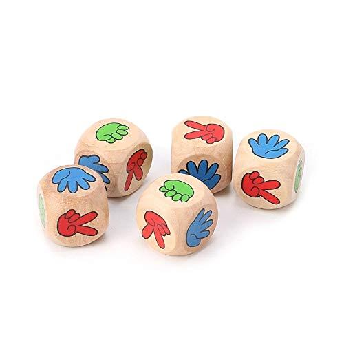 Fijnere 5 stuks drinken spel Rock Paper Scissors vinger raden 20mm hout dobbelstenen Bar speelgoed