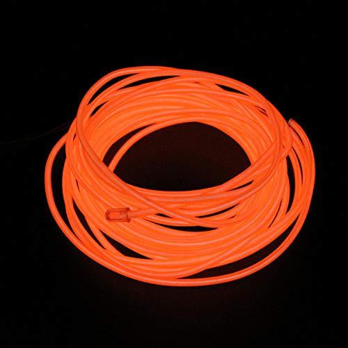 LICHONGUI 1-5m Flexibles Neonlicht Glow EL-Drahtseil Kabelstreifen für Auto Dekoration Party Kleidung Auto Licht (Color : Orange, Size : 3m)