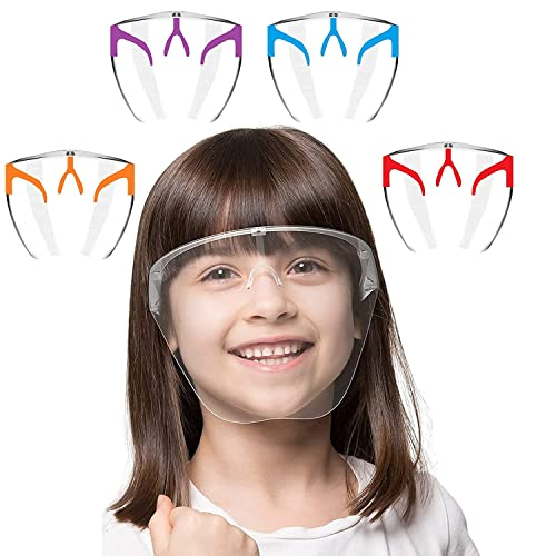 REDSUN Children (above 8 years) Face Shield Polycarbonate | Anti Fog | Protector |Multipurpose Face Cover | Compatible with face masks and glasses |With 4 Nose pin | (1)