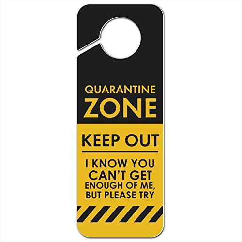 GRAPHICS & MORE Quarantine Zone Keep Out Plastic Door Knob Hanger Sign