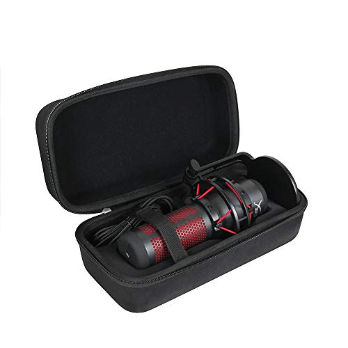 Hermitshell Hard Travel Case for HyperX QuadCast - USB Condenser Gaming Microphone (Black)
