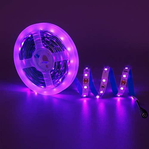 KXZM Black Light UV LED Strip Light 16 4ft 300LEDs SMD2835 12V Purple 395 400nm Flexible SMD2835 product image