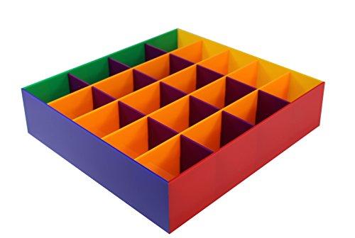 estellani® Chaussettes Chaussettes Box/Ceinture pour les vêtements d'enfants, rangement arc-en-ciel, acrylique brillant, Ceinture, rangement