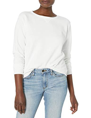 Hanes Women's V-Notch Pullover Fleece Sweatshirt, White, Small