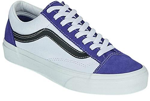 Vans Style 36 Trainers Men White/Blue Low Top Trainers Shoes 7.5 Men's / 9 Women's