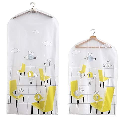4ft en 3ft kleding Rail Covers Kleding Plastic lijn Transparante Ademende Waterdichte Wasbare Pak Jurken Cover Bag Stofdichte Jas Opbergtas voor Mannen en Vrouwen (1 stks 120cm + 1stks 90cm)