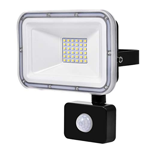 30W LED Floodlight with Motion Sensor Waterproof IP67 Outdoor Security...