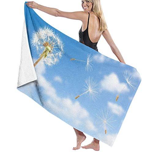 Toallas Shower Towels Beach Towels Bathroom Towels Toalla De Baño Toallas de baño de viaje de primer plano de diente de león Toalla 130 x 80 CM