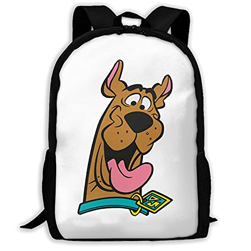 Mochila Scooby Doo Polyester, All-Print Adult Travel Bag Cool Kids School Bag.
