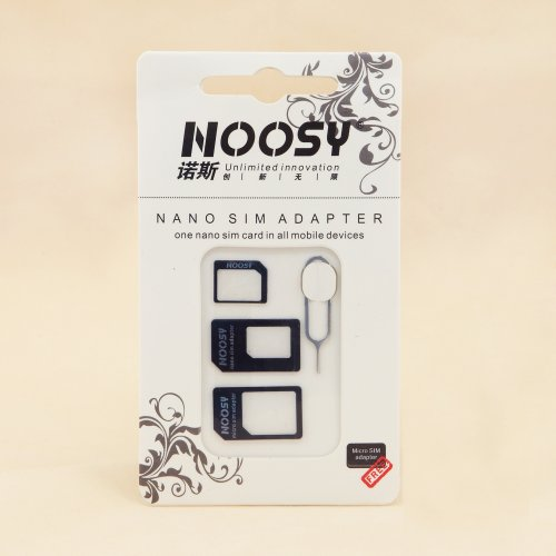 3in1 Noosy Micro Nano Estándard SIM Tarjeta Adaptador para Apple Iphone 4 4S 5 Samsung Galaxy