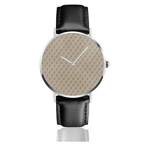 Reloj de Pulsera Reloj de Cuarzo Diagonales de lúpulo Rojo en Relojes...