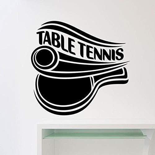Tischtennis Logo Wandtattoo Sport Tischtennis Tür Fenster Vinyl Aufkleber Innendekoration Jugend Schlafzimmer Stadion Wandbild 42x43 cm