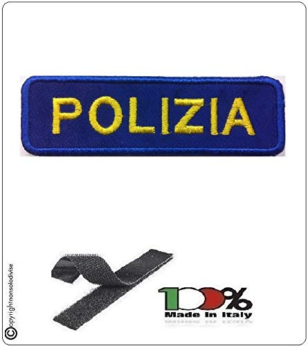 GS1 Patch Toppa Ricamata Polizia con Velcro Art.NSD-PS-01