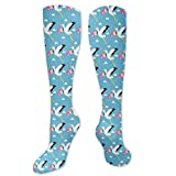 Stork - Calcetines de senderismo para llevar a los niños por debajo de la rodilla para correr, médicos, atletismo, edema, viajes