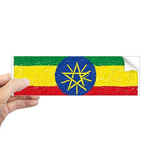 DIYthinker strepen Ethiopië Vlag Crayon tekening rechthoek bumper Sticker Notebook Window Decal