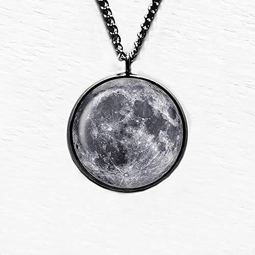 NASA Foto Photograph The Moon Mond Anhänger und Halskette