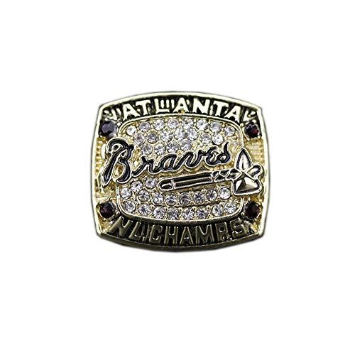 Fei Fei MLB 1996 Atlanta Warriors Baseball Championship Ring Anillos de Campeonato Personalizado para Fanáticos Día de San Valentín,Without Box,11#