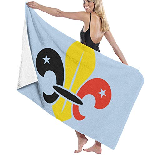 Zachary Sherman België vlag badhanddoek strandlaken douchehanddoek antibacterieel absorberend zacht hoogwaardig 130 x 80 cm