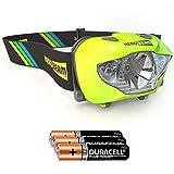 HeroBeam Linterna Frontal LED - Mejor linterna de cabeza para andar en bicicleta, pasear al...