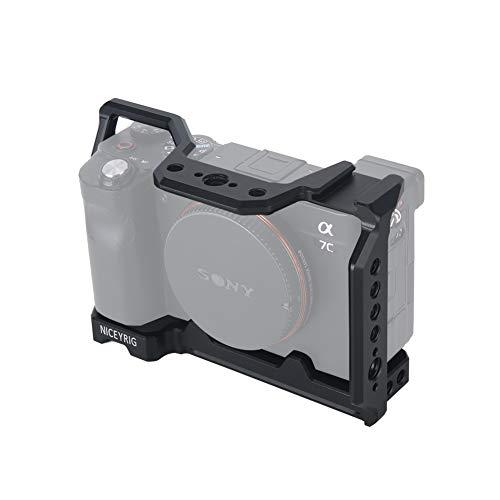 NICEYRIG Jaula de cámara A7C para Sony A7C, con zapata fría de...