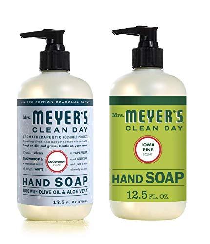 Mrs. Meyer's Liquid Hand Soap Variety Pack, 1 Snow Drop, 1 Iowa Pine, 1 CT