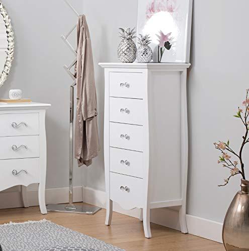 PEÑA VARGAS - Muebles para Dormitorios - Mueble Sinfonier 5 Cajones Nova Blanco (53x35x115)