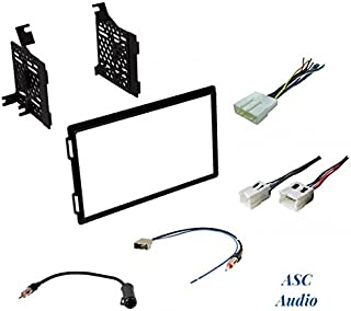 Premium Car Stereo Install Dash Kit, Wire Harness, and Antenna Adapter to Install an Aftermarket Double Din Radio for Select Nissan Vehicles - See Compatible Vehicles Below,