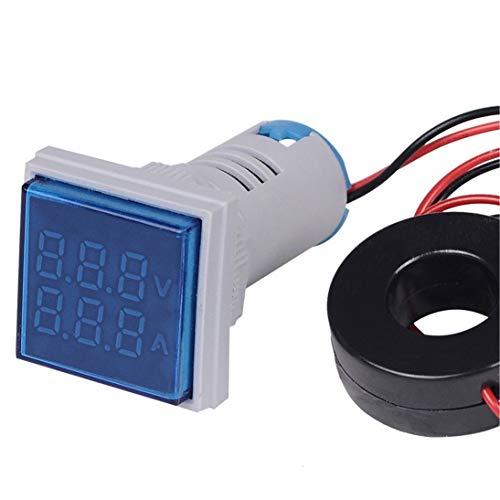 LED Digital Voltmeter Amperemeter Hertz Meter Signallichter Spannung Strom Frequenz Combo Meter Anzeigetester - Blau