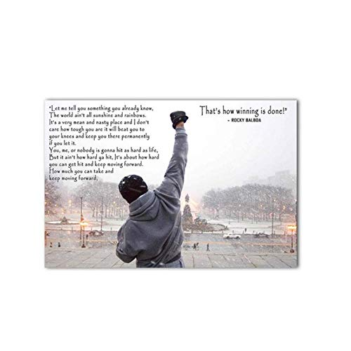 Preisvergleich Produktbild zhaoyangeng Bodybuilding Print Poster Moderne Schwarz-Weiß-Zitat Wandkunst Leinwand Malerei Nordic Schlafzimmer Dekoration Bild-50X70 cm Kein Rahmen