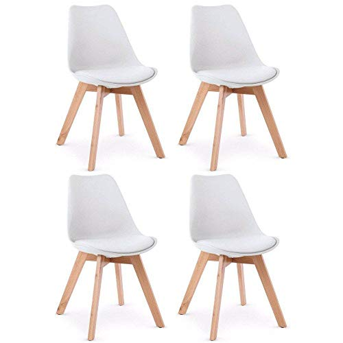 Lot de 4 chaises Oslo Design scandinave piétement en hêtre