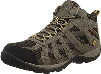 Columbia Men's Redmond Mid Waterproof Boot, Breathable, High-Traction Grip Hiking, Cordovan, Dark Banana, 12 D US