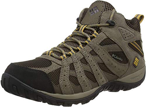 Columbia Men's Redmond Mid Waterproof Boot, Breathable, High-Traction Grip Hiking, Cordovan, Dark Banana, 11 D US