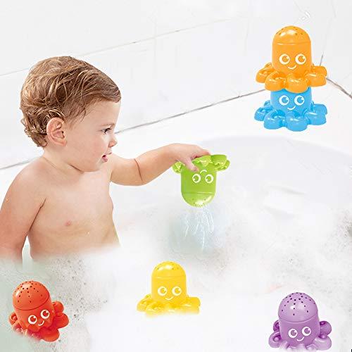 LovePlz 6Pcs Cute Octopus Animal Stacking Cups Baby Bad Spiel Bildung Spielzeug Geschenk Kreatives Design Für Hot Day Dusche Spielzeug Für Kinder 6 Farben