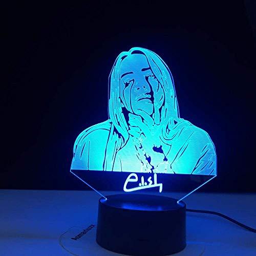3D Ilusión lámpara de proyección lámpara Tienda de botellas de vidrio de vino Decoración Del Hogar Regalo De Cumpleaños Para Niños Habitación De Niños Cambio de color colorido, con interfaz USB