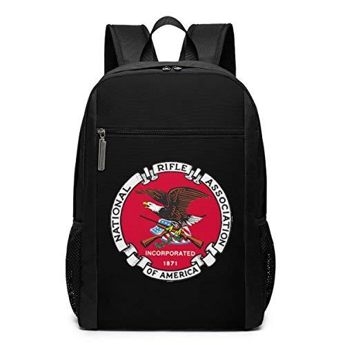 ZYWL NRA National Rifle Association Laptop-Rucksack, Reiserucksäcke School College Bookbag für Frauen und Männer 17 Zoll