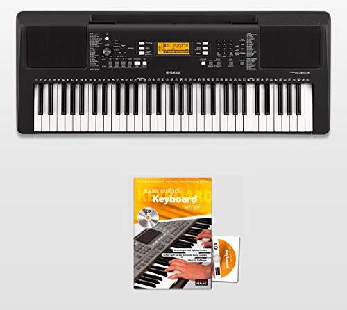 Yamaha PSR-E363 Keyboard mit 61 Tasten, 48 fache Polyphonie, 574 hochwertige Klangfarben, 165 automatische Begleit-Styles + Keyboardschule