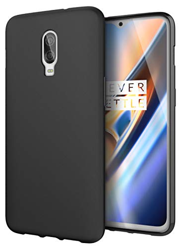 Cimo Slim Matte OnePlus 6T Case with Premium Flexible TPU Protection for OnePlus 6T (2018) - Black