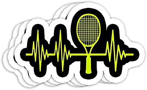 Tennis Heartbeat Best Tennis for Players Fans Sayings Gift Decorations - Decals Stickers for Laptop Window Helmet Water Bottle , Funny Sticker, Gift Sticker