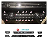 SHUNFENG Big Mother Ajustar para la Consola de Calidad Dashboard CA Botones Caps Kit de reparación de reemplazo Conjunto para BMW 5 7 Series F10 F18 F01 F02 520 523 525 530 730 740