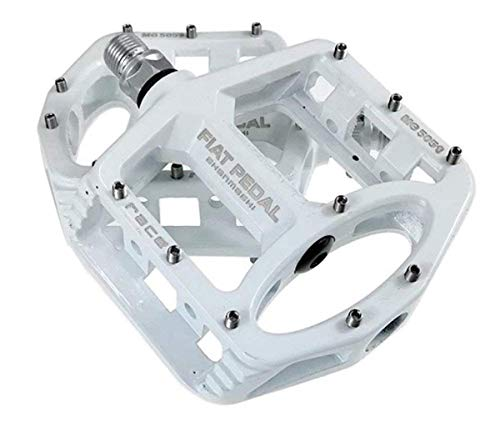 Evetin 5051-1 Ultra Lightweight Magnesium Pedals for Mountain Bike, BMX, Mountain Bike, Road Bike, Universal 9/16', bianco