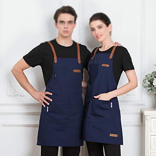 JISHUREN Koch Küchenschürze Coffee Shop Friseur ärmellose Arbeit Uniform Latzhose Anti-Fleck-Schürze