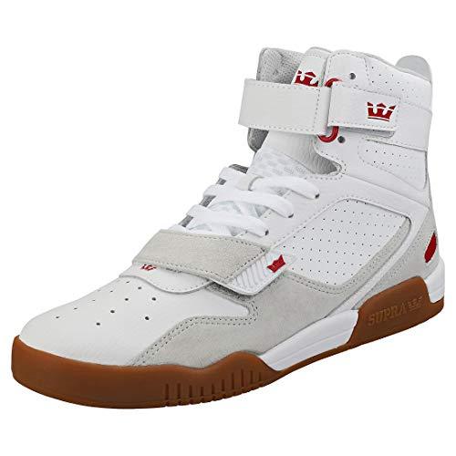 Supra Breaker, Zapatillas de Skateboard Unisex Adulto, Blanco (White/Rose-Gum-M 173), 40 EU