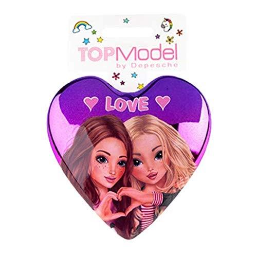 Depesche 8533 3 - Klapphaarbürste TopModel, Love Love