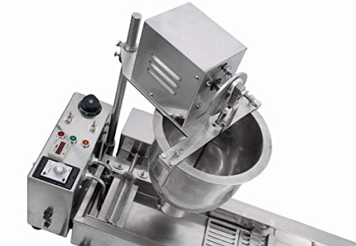 KUNHEWUHUA Automatic Donut Maker Machine Commercial Doughnut Making Frying Machine Stainless Steel with 3 sizes Molds 110V/220V