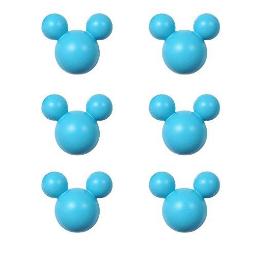 アルファタカバ ディズニー ミッキー取っ手シリーズ ツマミつまみ 6個セット ブルー