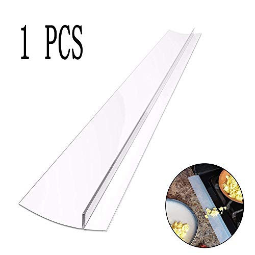 Sundarling Silikon-Abdeckung für Lücken, 53,3 cm, versiegelt Verschütten zwischen Theken, Geräten, Trocknern, Herden, Waschmaschinen und mehr transparent
